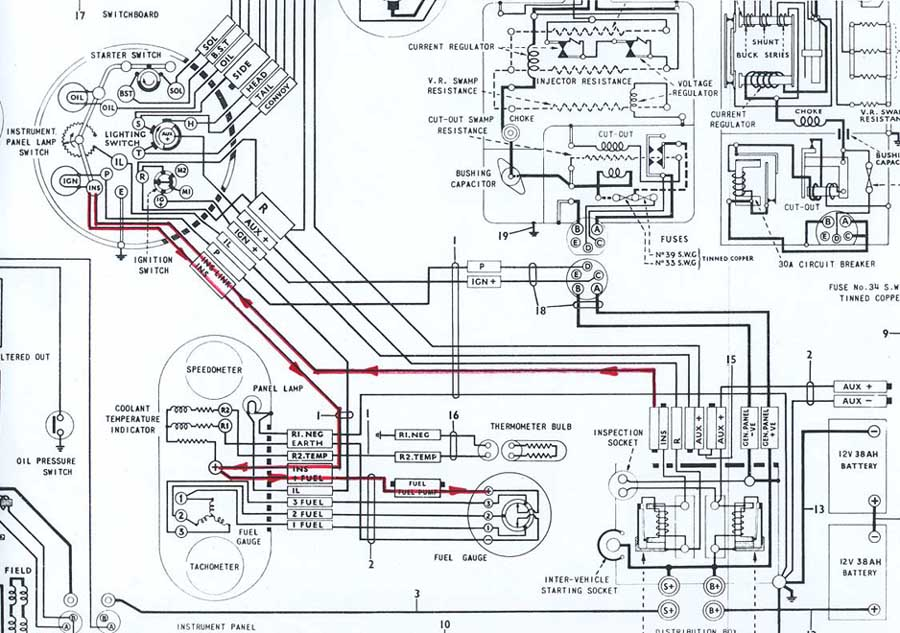 austin champ wiring diagram fender champ wiring diagram austin champ fuel gauge system